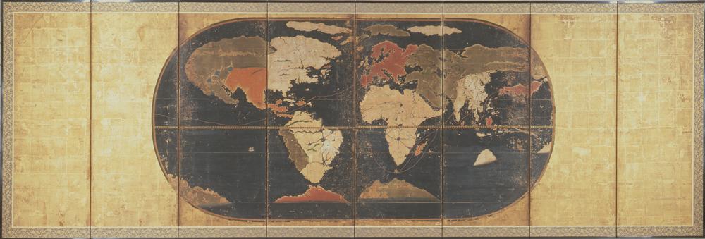 鍵平 世界図屏風
